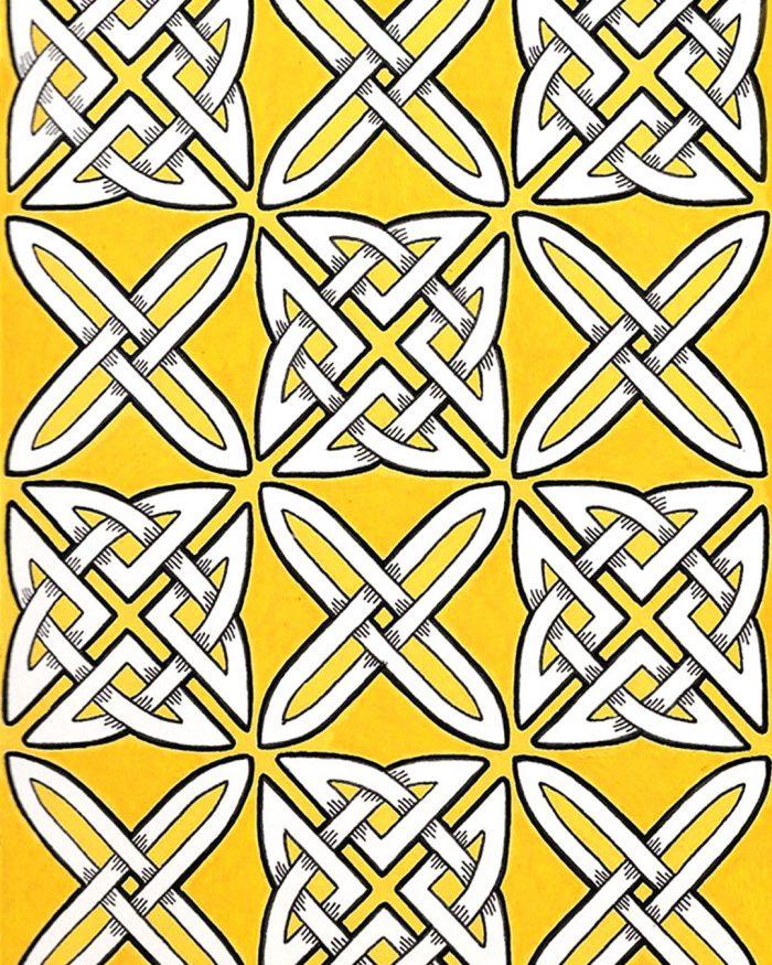 celtic knots pattern drawing