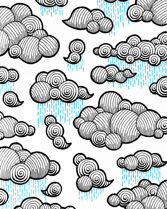 clouds pattern drawing