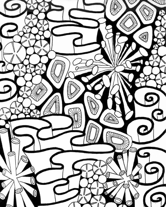 coral reef pattern drawing