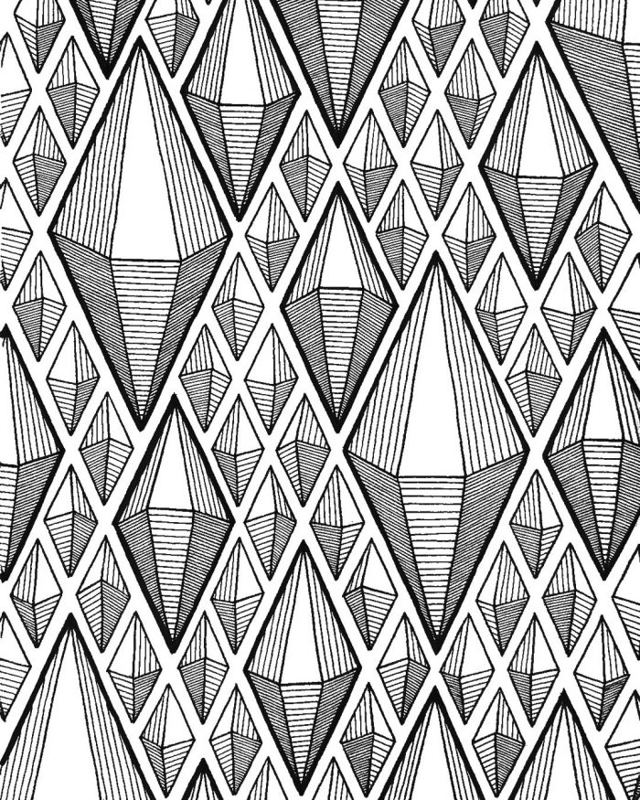 diamonds pattern drawing