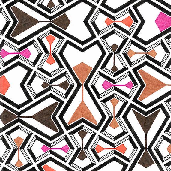 hourglass pattern drawing