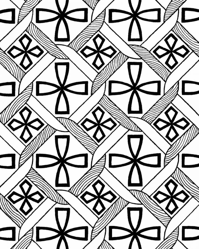 islamic tiles pattern drawing