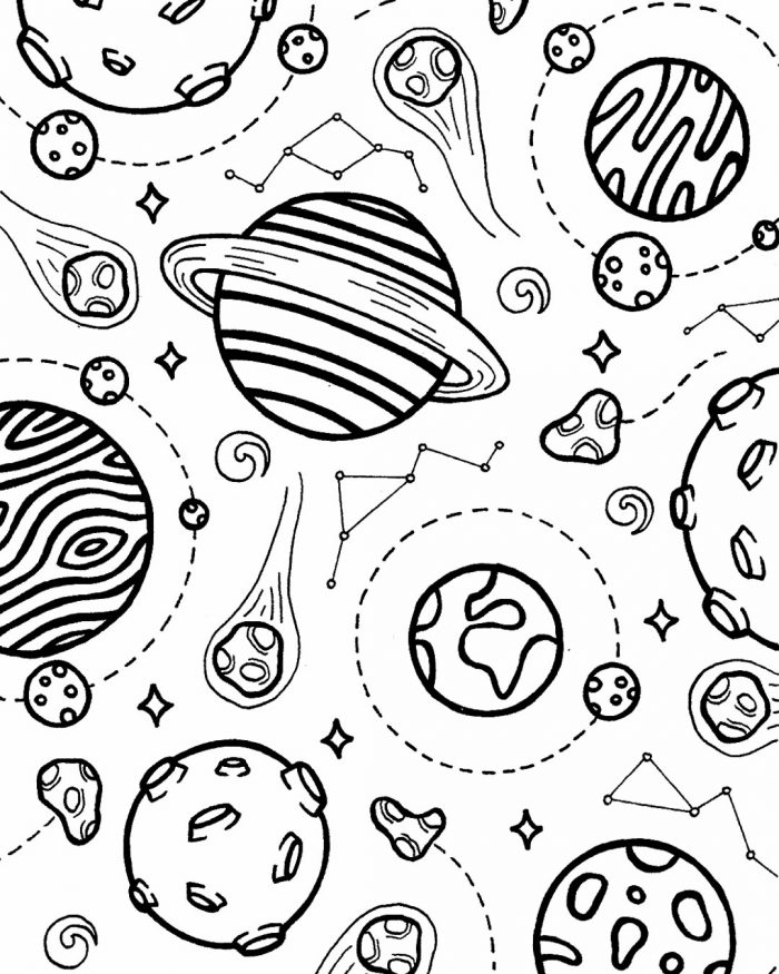 planets pattern drawing