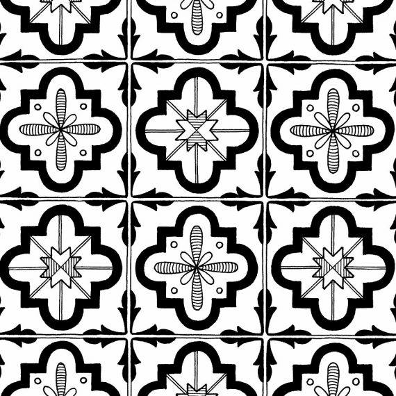 portuguese tiles pattern drawing