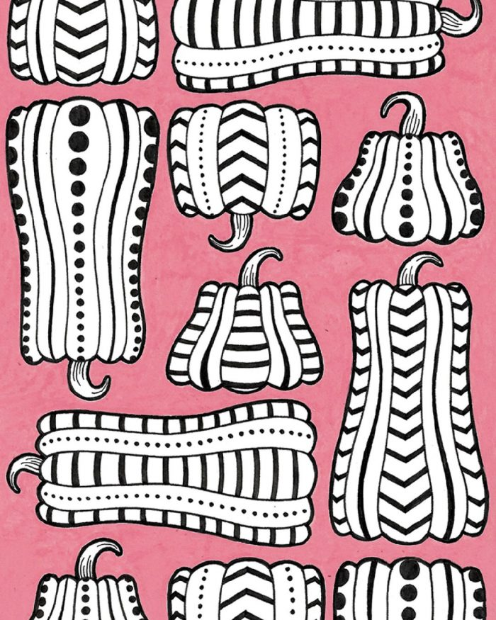 pumpkins pattern drawing