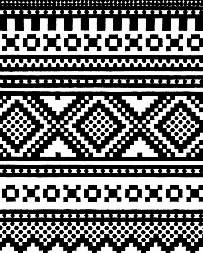scandinavian pattern drawing