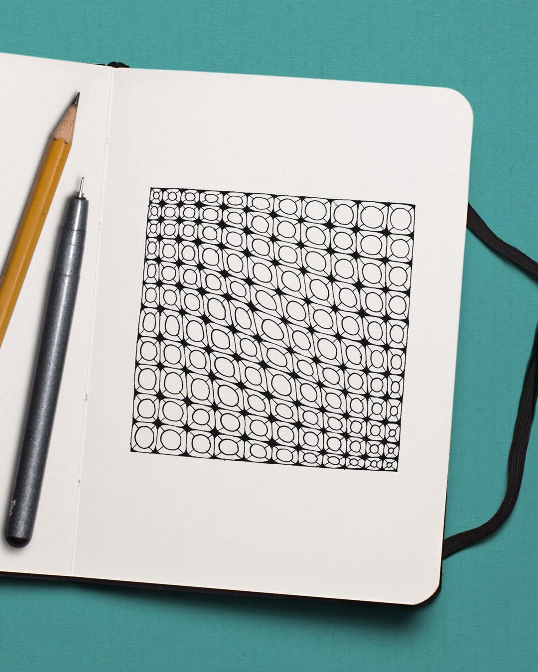 geometric zen doodle drawing