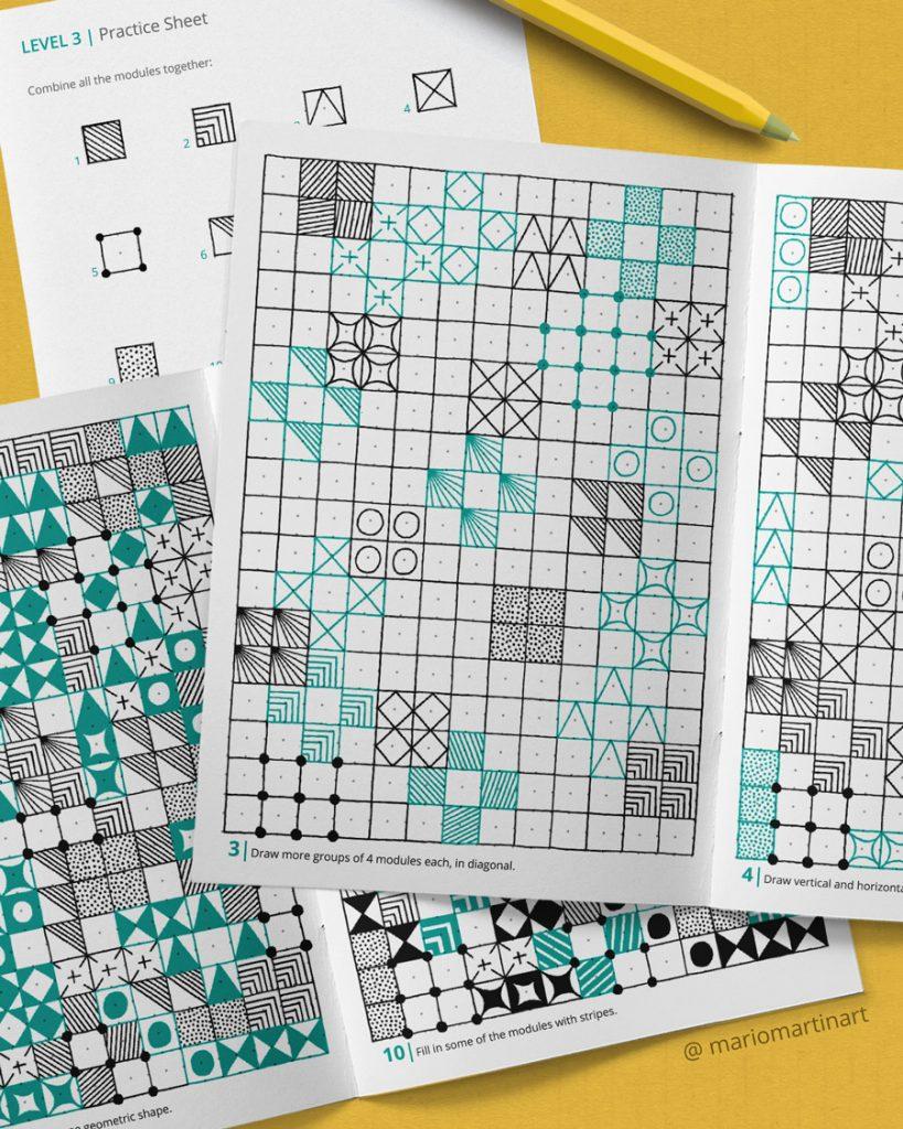how to draw geometric patterns workbook