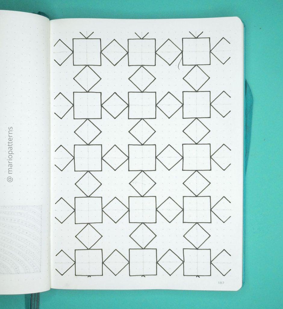 geometric stars pattern tutorial step 2