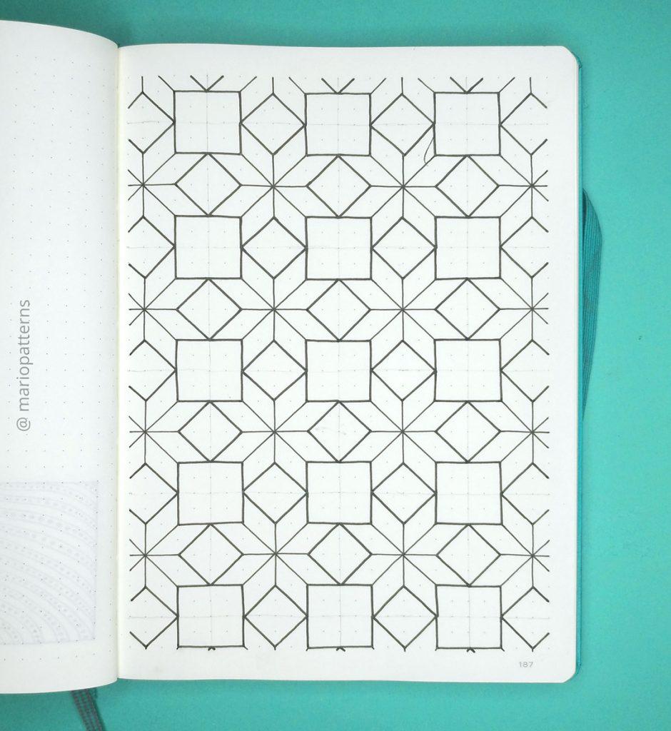 geometric stars pattern tutorial step 3