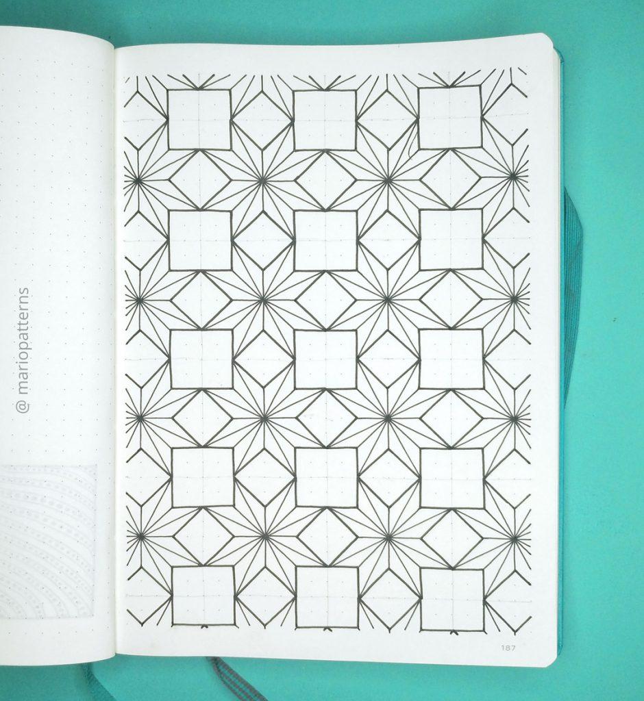 geometric stars pattern tutorial step 4