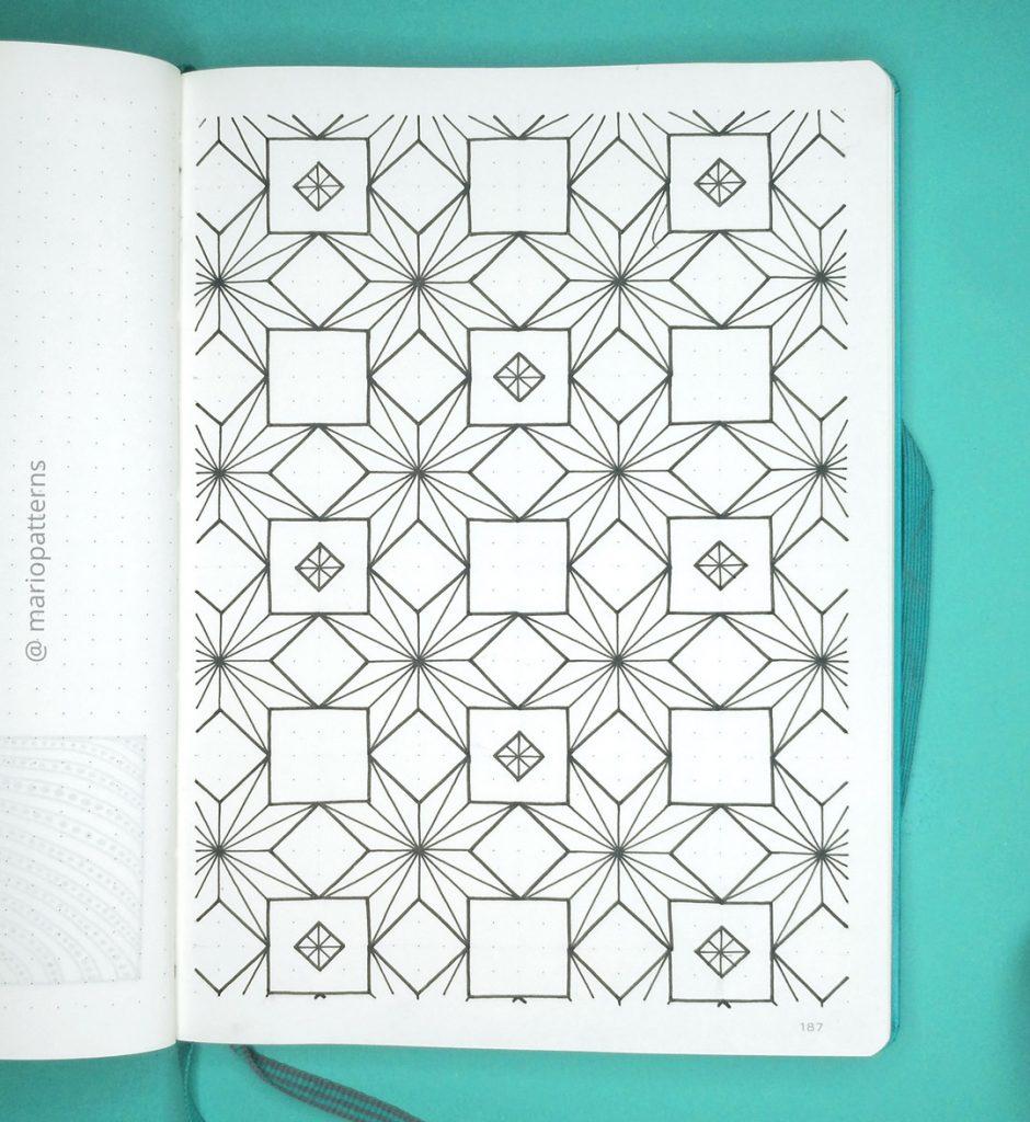 geometric stars pattern tutorial step 5