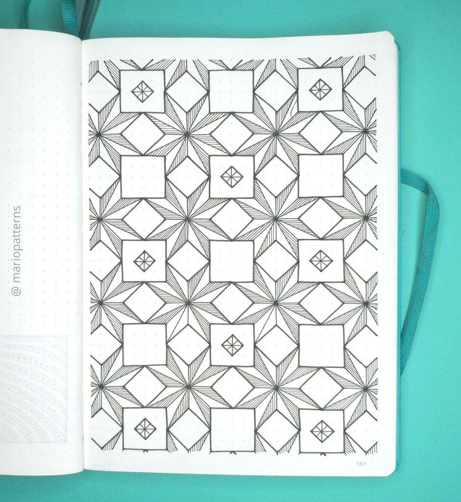 geometric stars pattern tutorial step 6