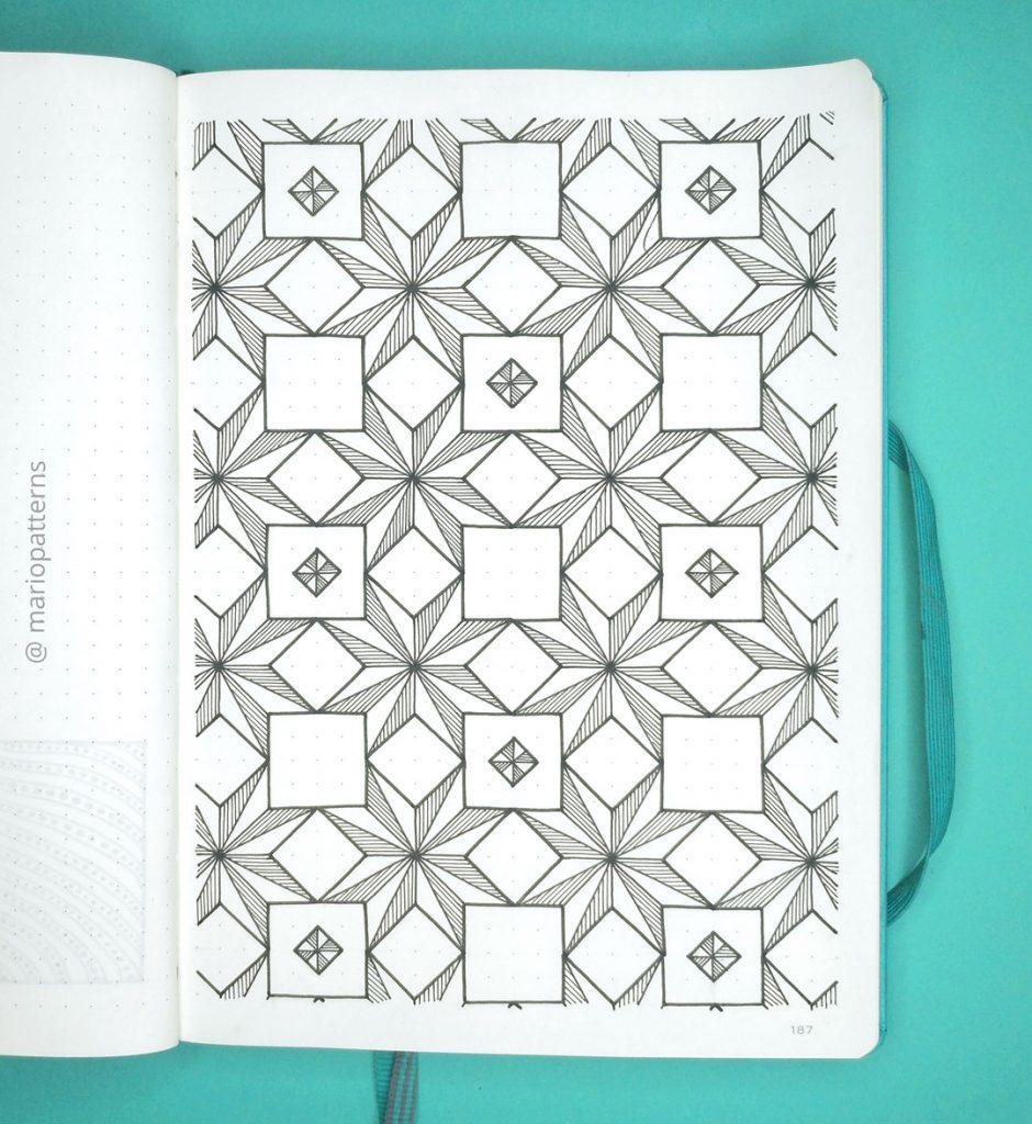 geometric stars pattern tutorial step 7