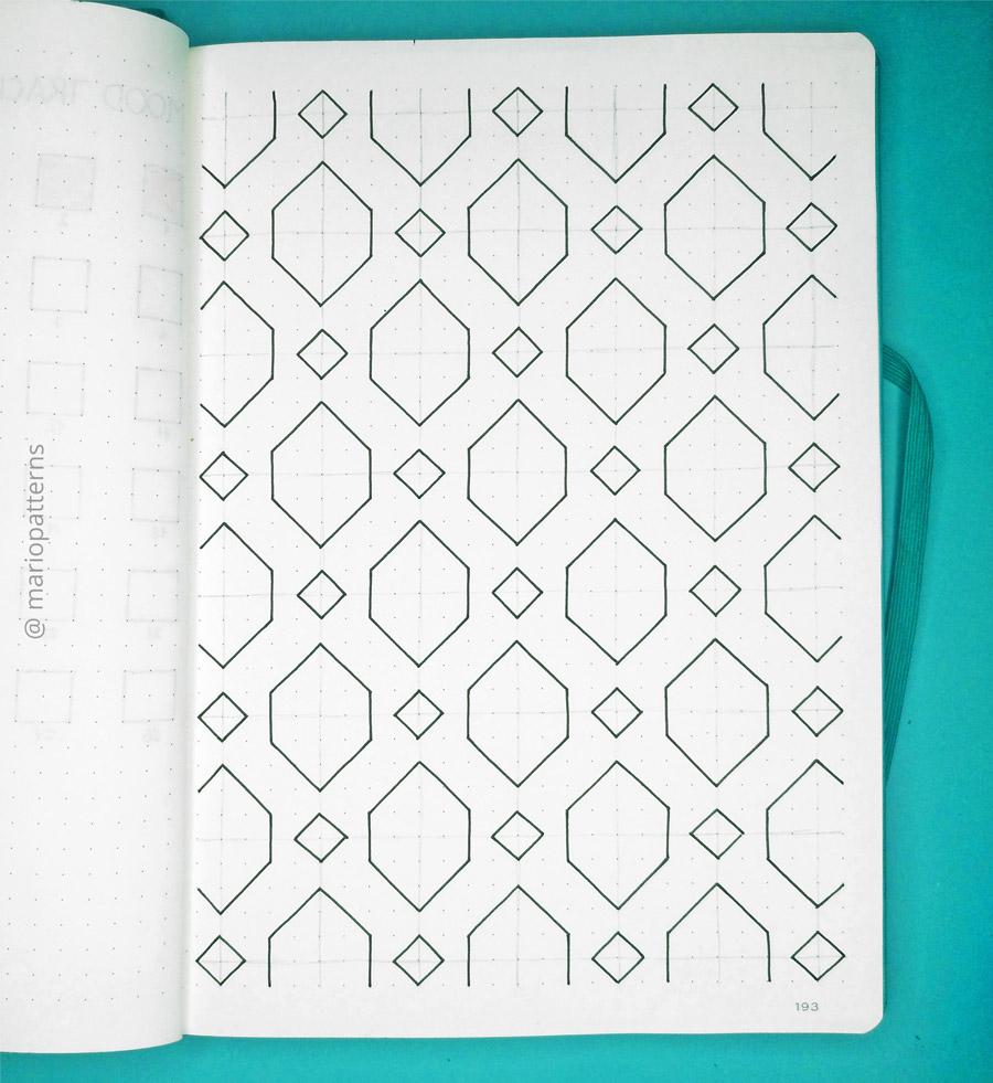 geometric cells pattern tutorial step 3