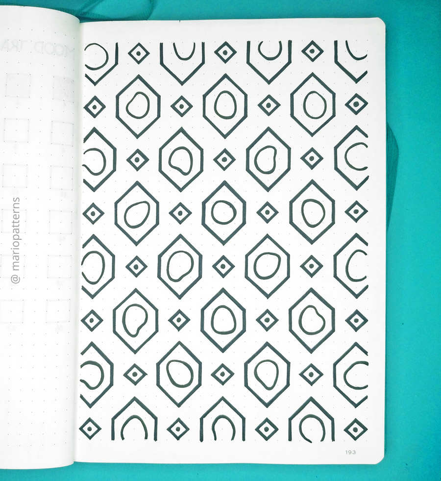 geometric cells pattern tutorial step 5