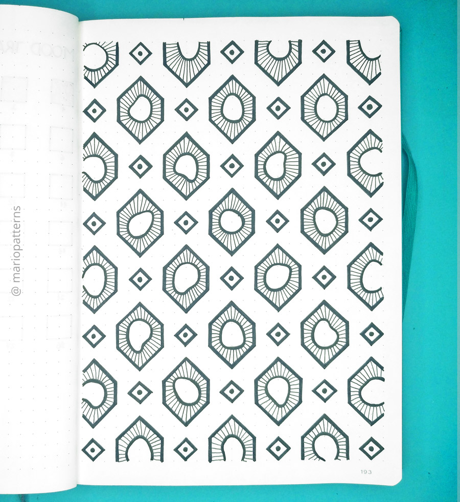 geometric cells pattern tutorial step 6