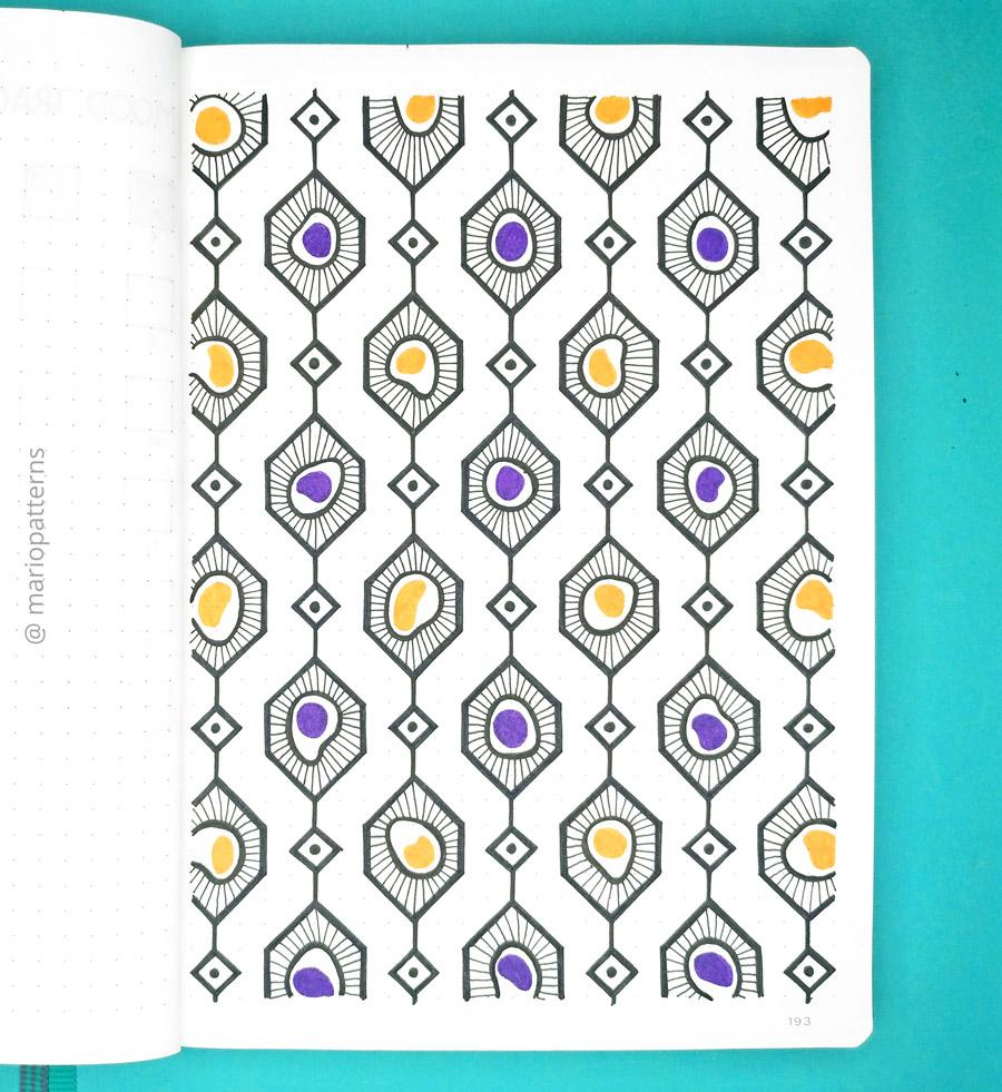 geometric cells pattern tutorial step 8