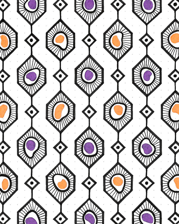 geometric cells pattern