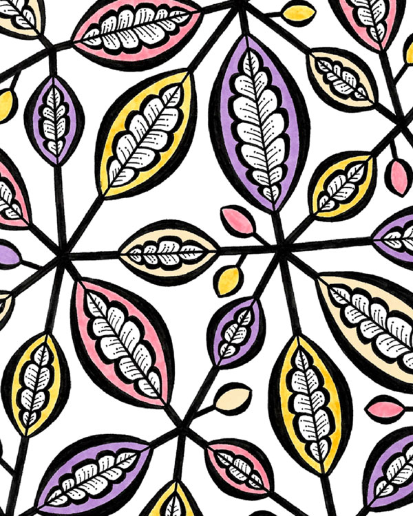 stained leaves pattern